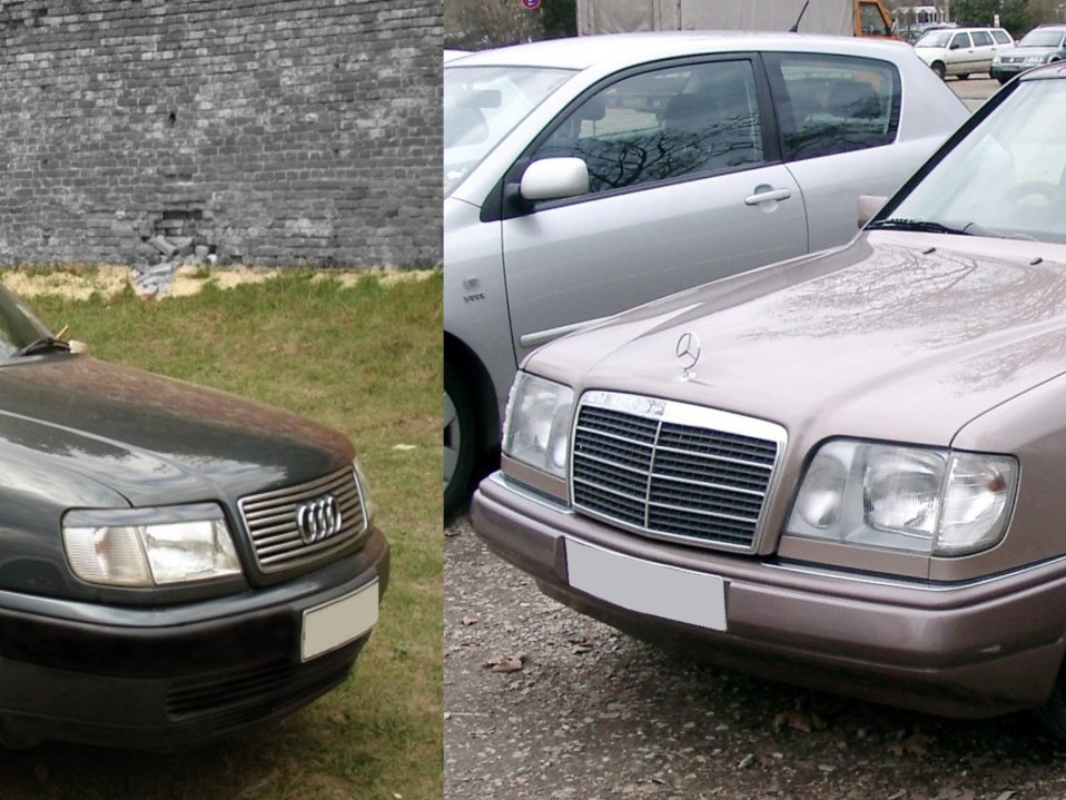 Mersedes W 124 and Audi 100 c 45