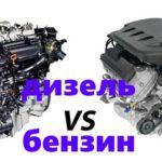 Бензиновый двигатель vs Дизельный двигатель